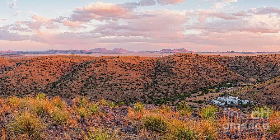 Davis Mountains Photograph - Last Light On The Landscape - Davis Mountains State Park And Faraway Chihuahua Desert - Fort Davis by Silvio Ligutti