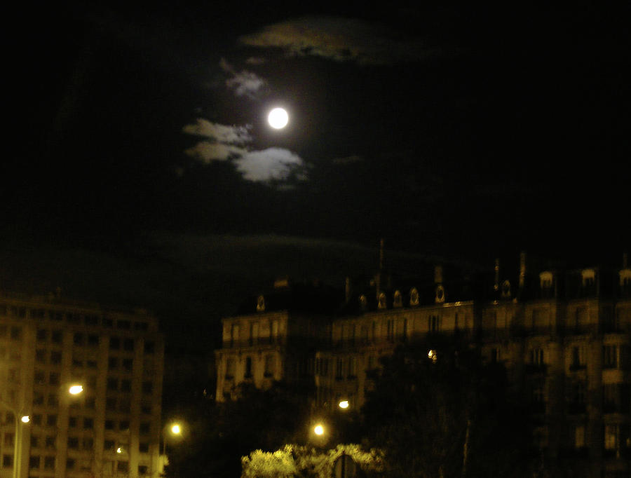 Moon Photograph - Last Moon In Paris by Wilma Stout