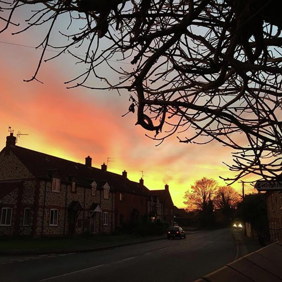 Nature Photograph - Last Nights Sunset From Our Cottage by John Edwards