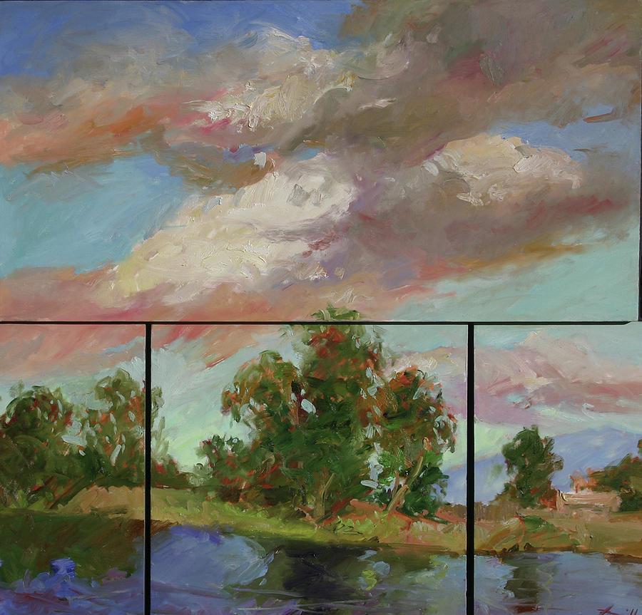Murals Painting - Last Of Sand Creek  - Plein Air by Betty Jean Billups
