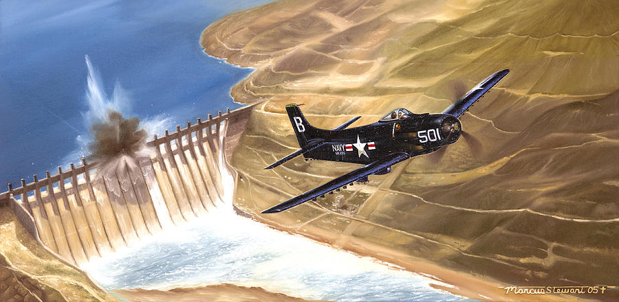 Military Painting - Last of the Dambusters by Marc Stewart
