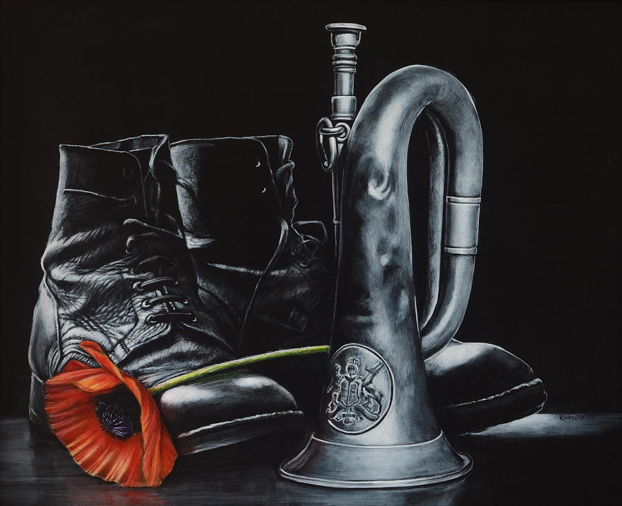 Bugle Painting - Last Post by Karl Hamilton-Cox