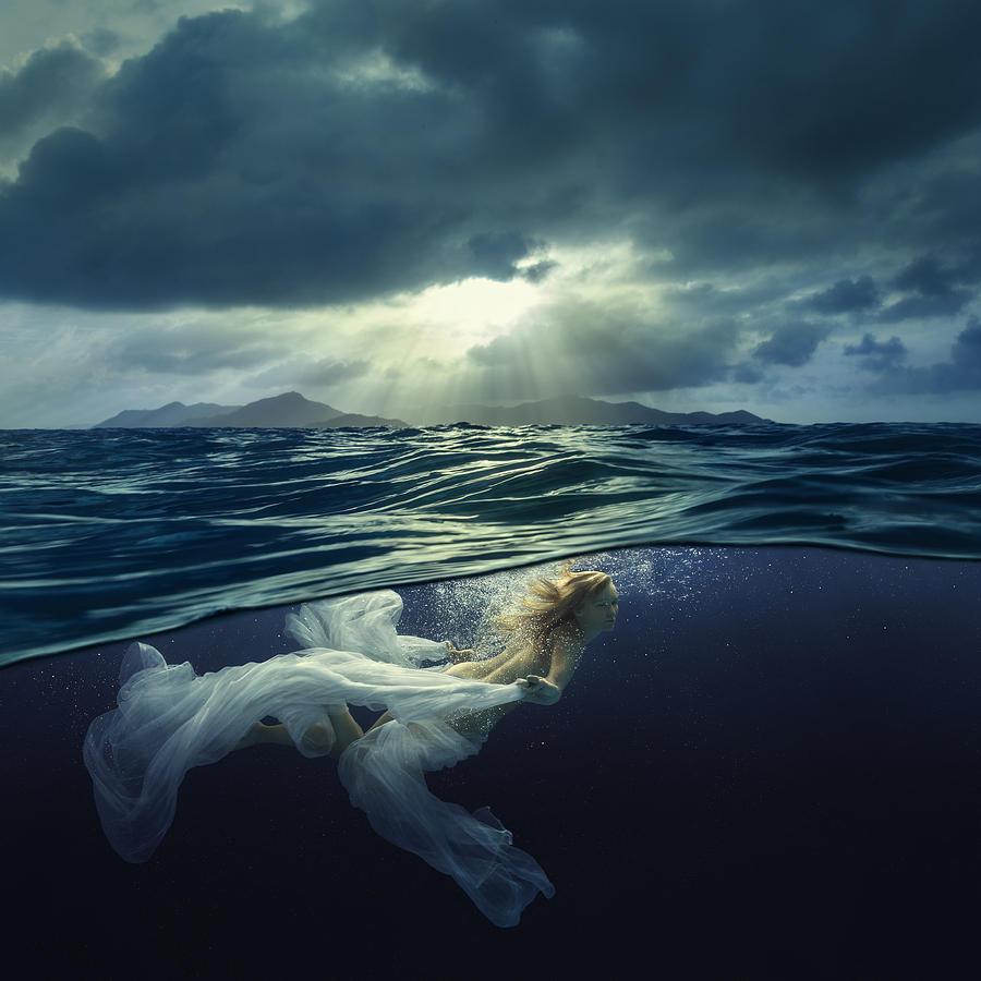 Girl Photograph - Last Rays by Dmitry Laudin