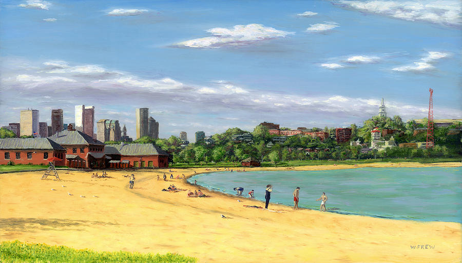 South Boston Painting - Last Rays Of Summer by William Frew
