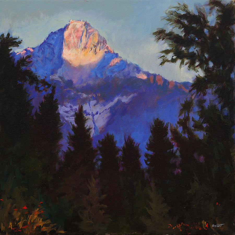 Glacier Painting - Last Rays by Robert Bissett