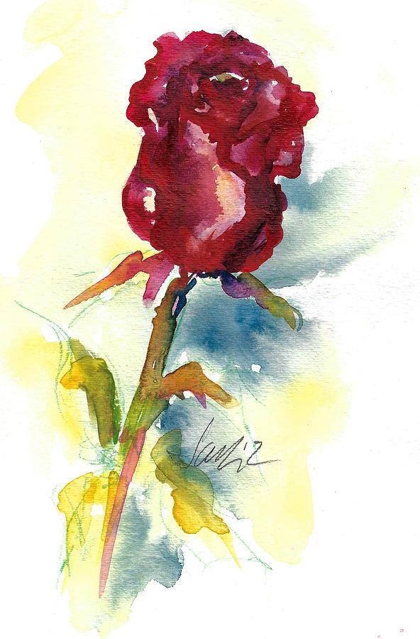 Colorful Painting - Last Rose Of Summer by Jacki Kellum