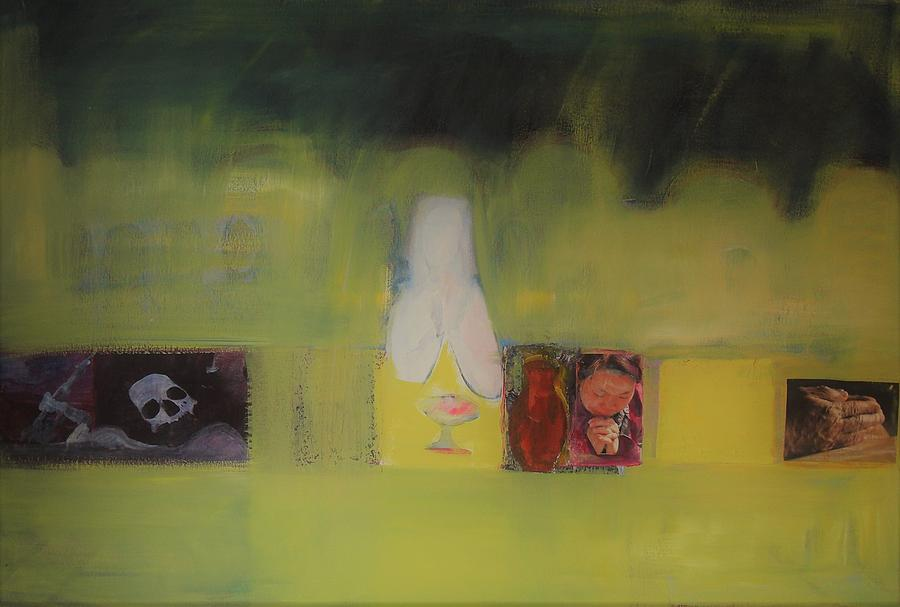 Last supper in Yellow and Green by Liliane DUMONT-BUIJS