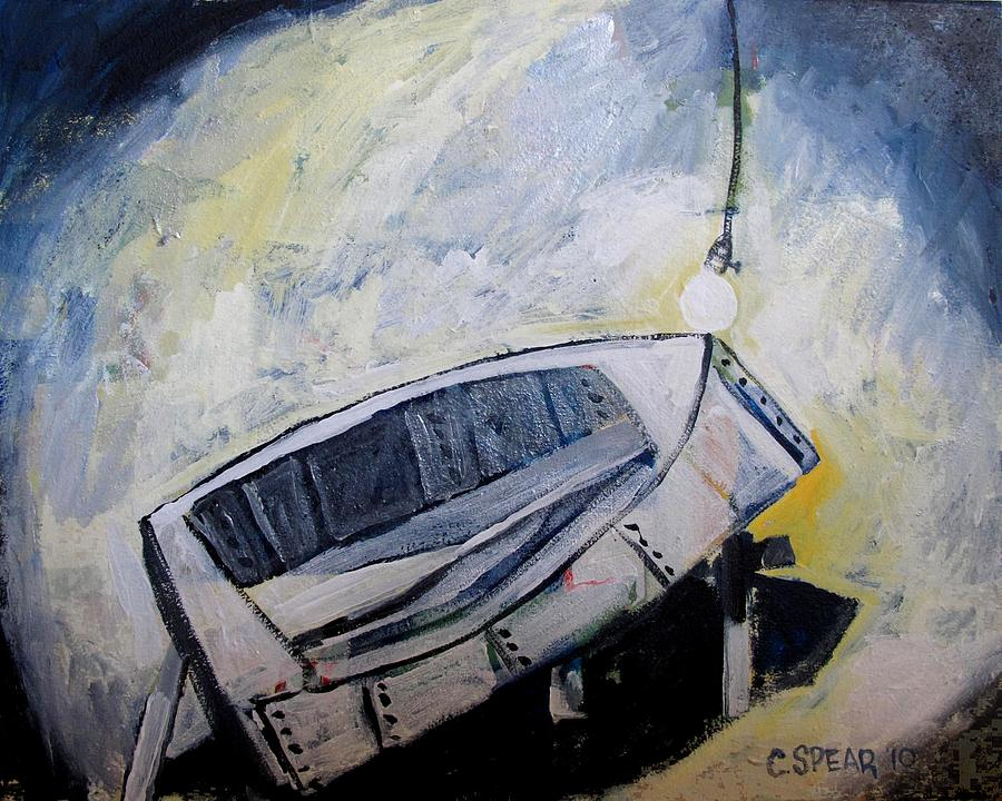 Boat Painting - Last Time In The Patch Shed by Charlie Spear