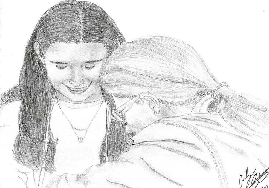 Lesbian Drawing - Lasting by Ashley Porter