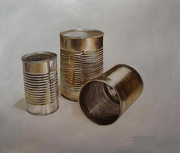 Latas 01 Painting by Francisco Lechuga