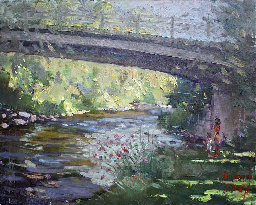 Late Afternoon Painting - Late Afternoon at McNab Park by Ylli Haruni
