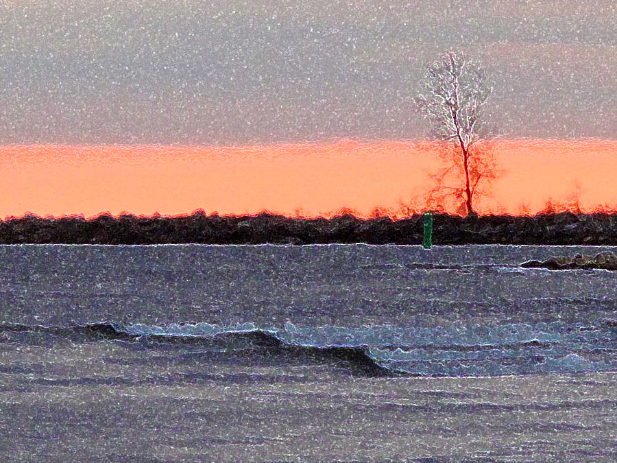 Wind Digital Art - Late Afternoon By The Lake 2 by Lyle Crump