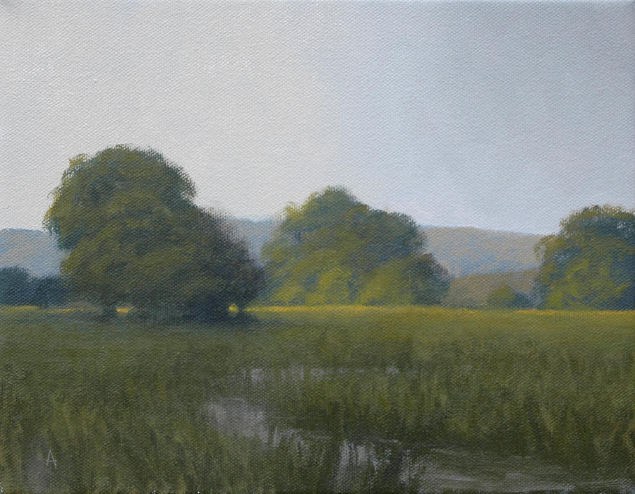 Landscape Painting - Late Afternoon by Eric Angeloch