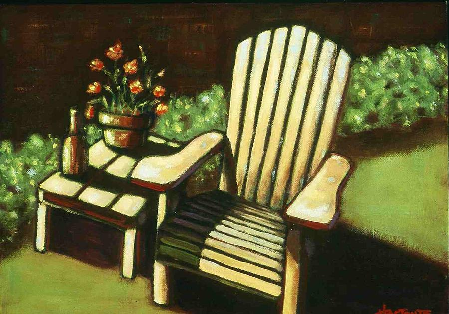 Chair Painting - Late Afternoon by Helen O Hara