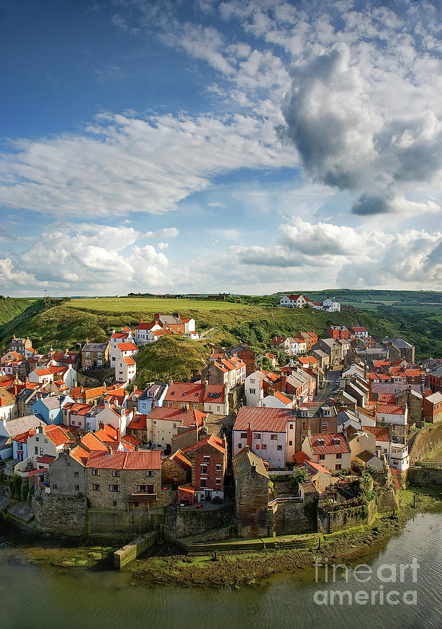 Summer Photograph - Late Afternoon Light On Staithes by Richard Burdon