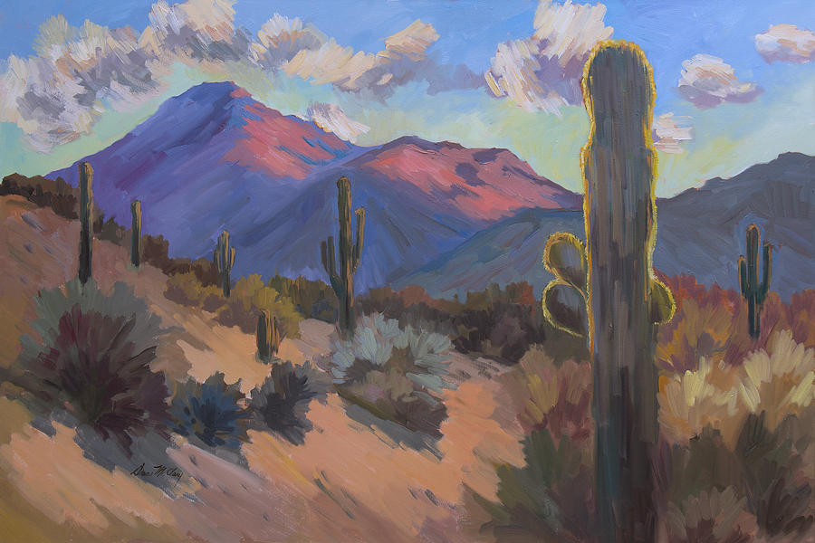Tucson Painting - Late Afternoon Tucson 2 by Diane McClary