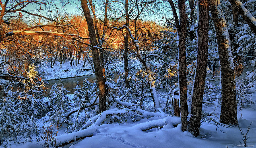 Landscape Photograph - Late Afternoon Winter Light by Bruce Morrison