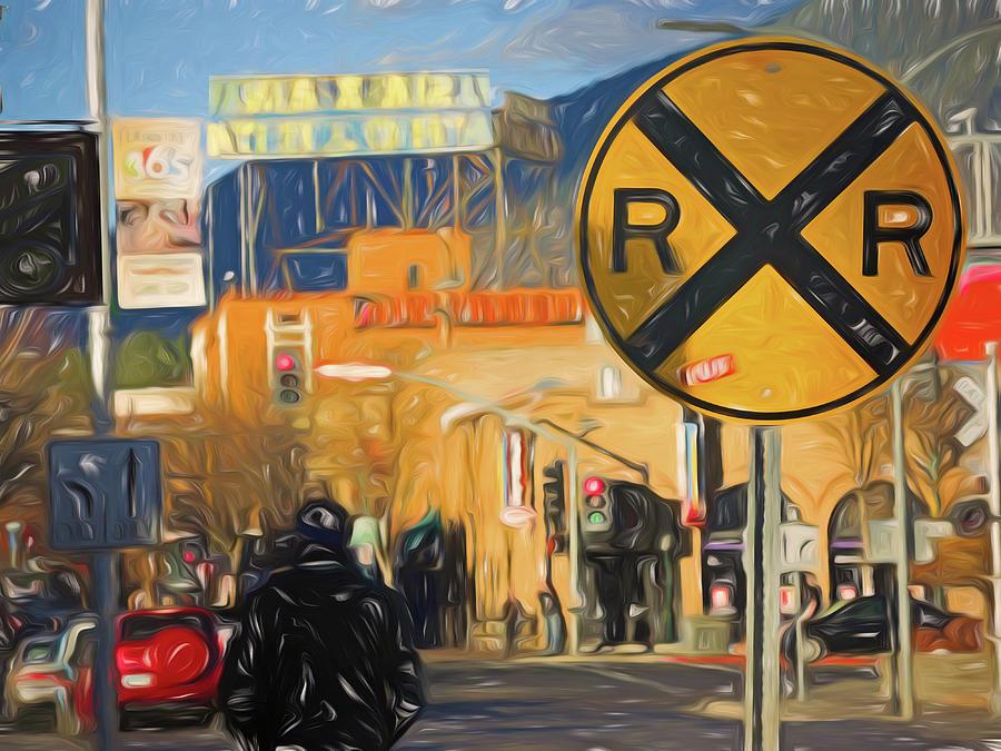 Late Day Crossing 3 by Lynda Lehmann