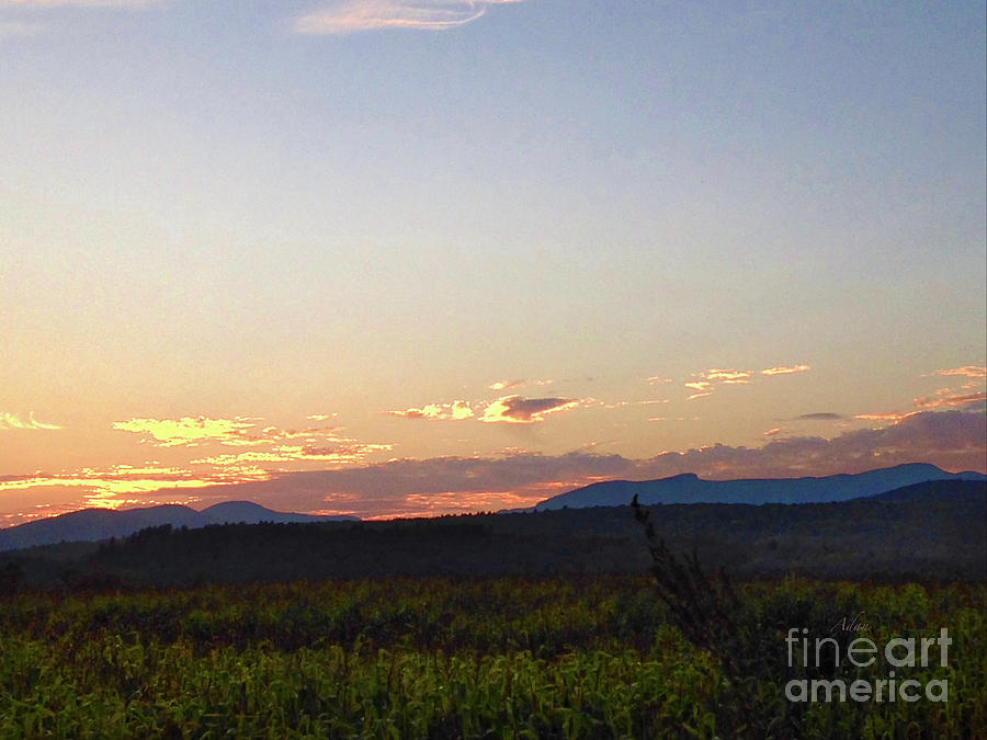 Stowe Vermont Photograph - Late Evening Sunset by Felipe Adan Lerma