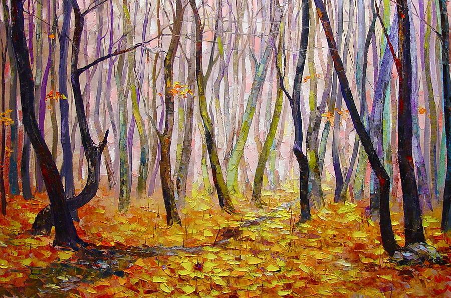 Nature Painting - Late Fall by Keren Gorzhaltsan