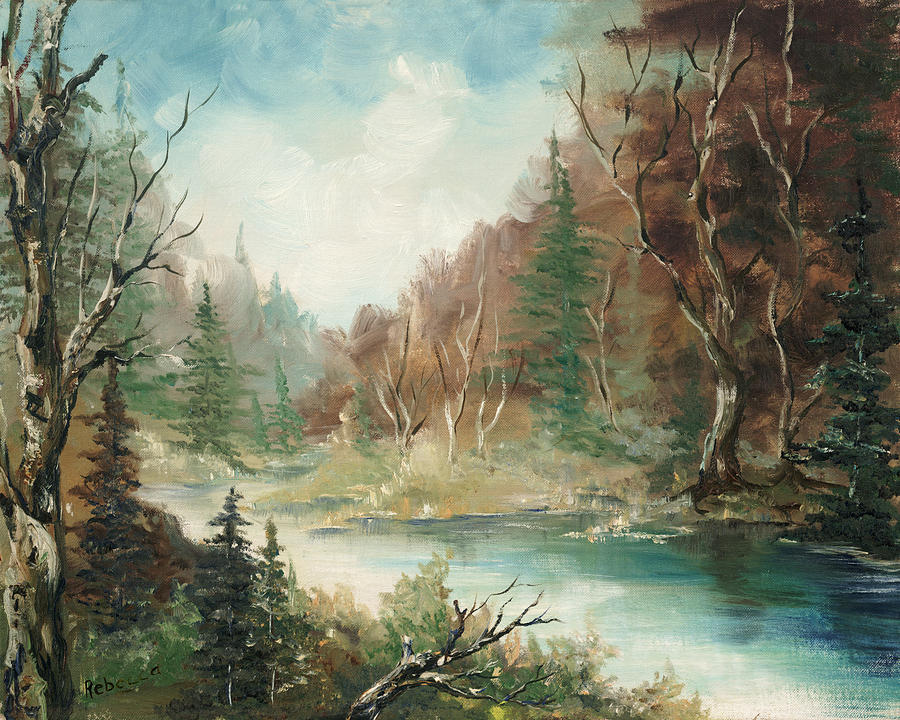 Nature Painting - Late In The Season by Cathy Robertson