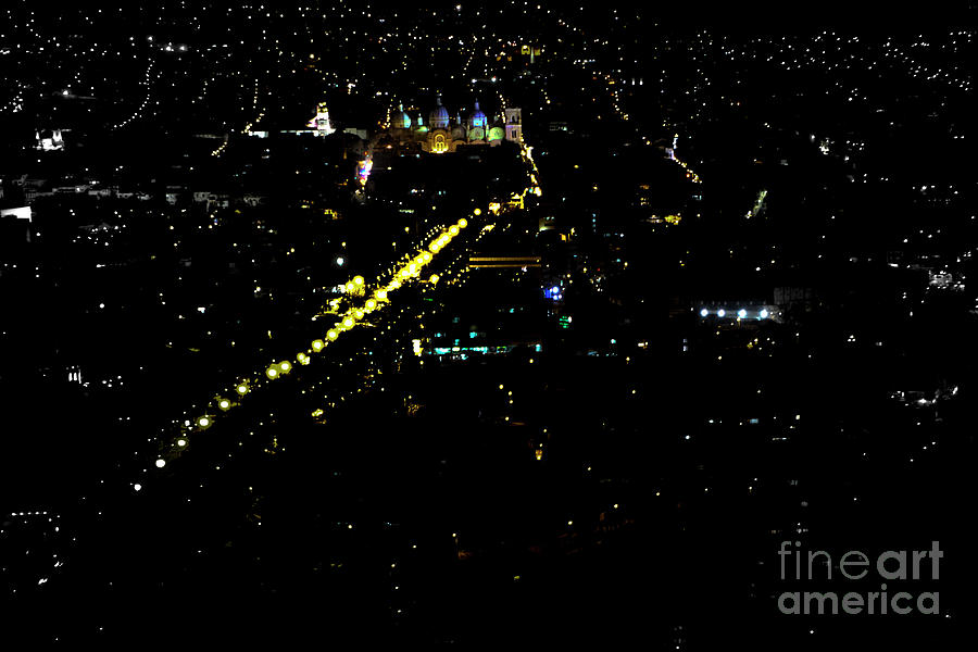 Night Photograph - Late Night In Cuenca, Ecuador by Al Bourassa
