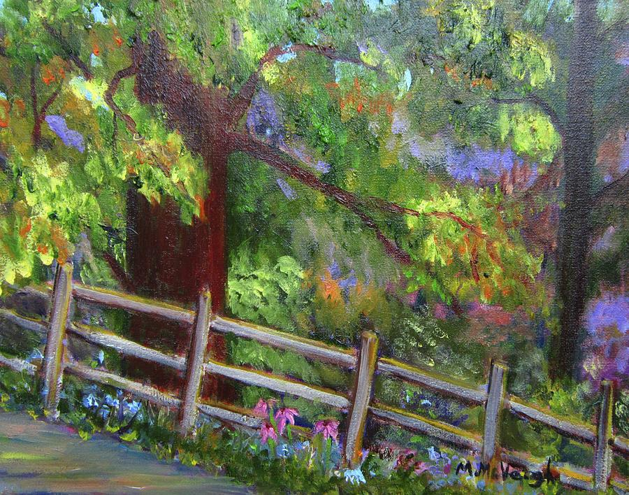 Landscape Painting - Late Summer At Pennypack Preserve by Marita McVeigh