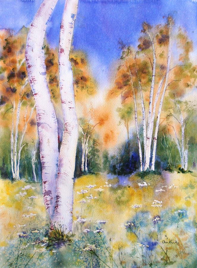 Late Summer Birches by Diane Kirk