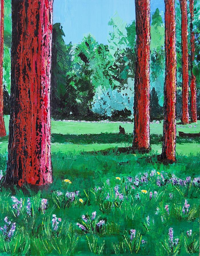 Trees Painting - Late Summer Get Away by Susan M Woods