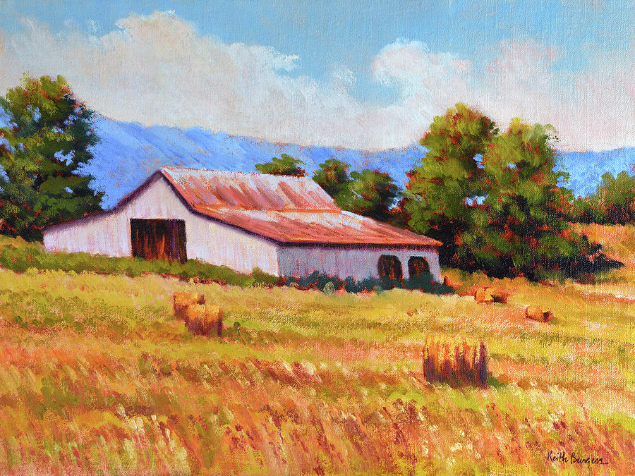 Impressionism Painting - Late Summer Hay by Keith Burgess