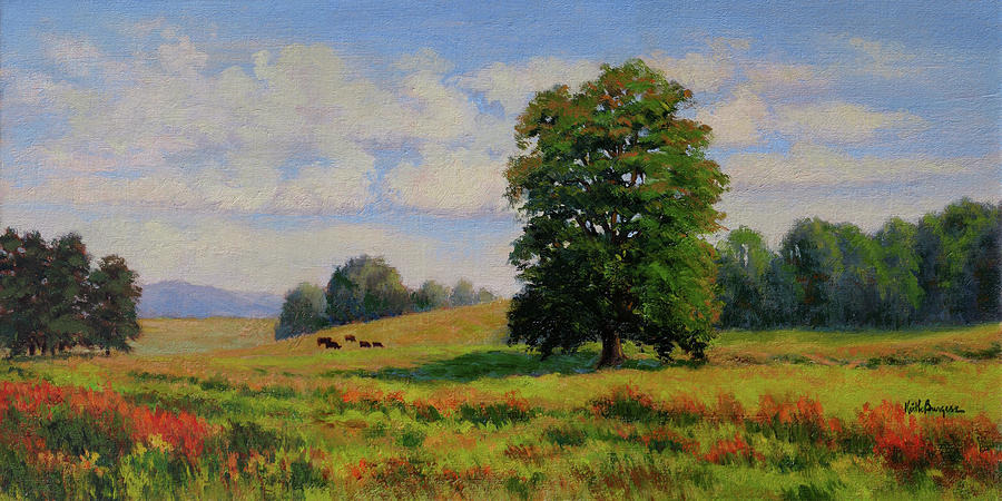 Impressionism Painting - Late Summer Pastoral by Keith Burgess