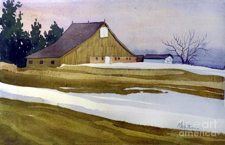 New Jersey Painting - Late Winter Melt by Donald Maier