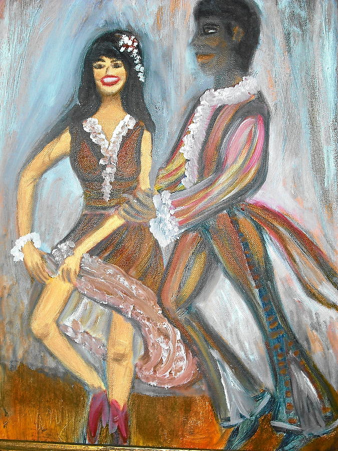Dancers Painting - Latin Dancers 1 by BJ Abrams
