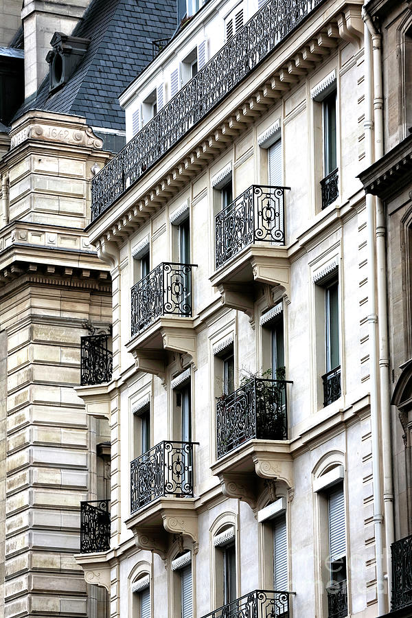 Balcony Photograph - Latin Quarter Balconies Paris by John Rizzuto