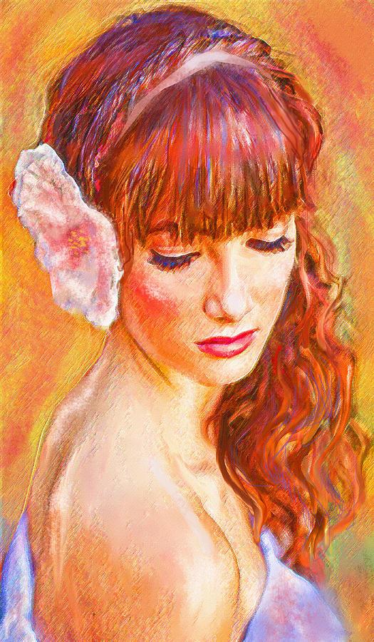 Latina Digital Art - Latina Beauty by Jane Schnetlage