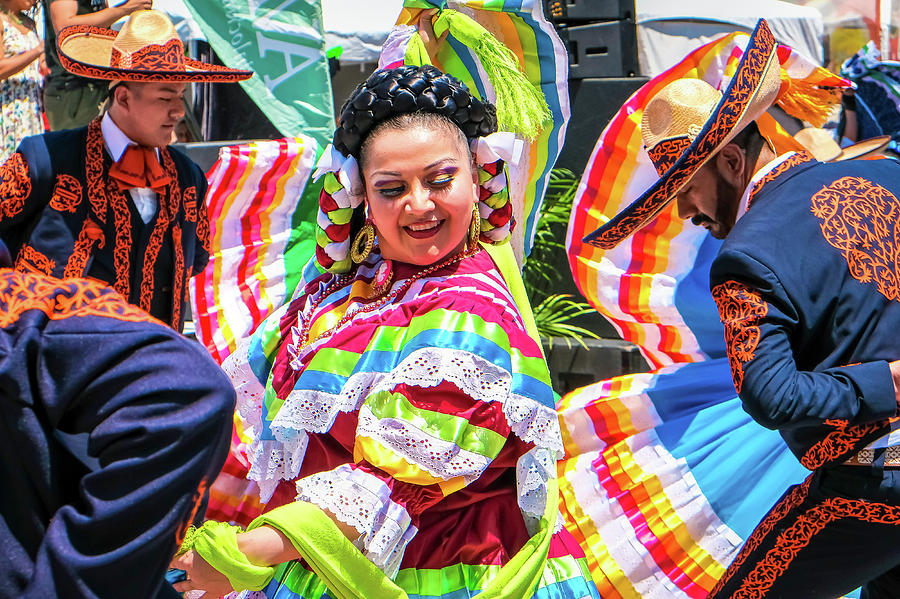 Latino Street Festival Dancers by Robert Bellomy