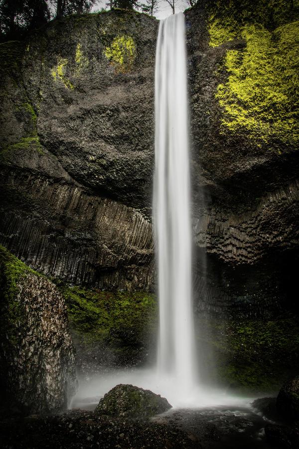 Water Photograph - Latourell Falls by Joe Hudspeth