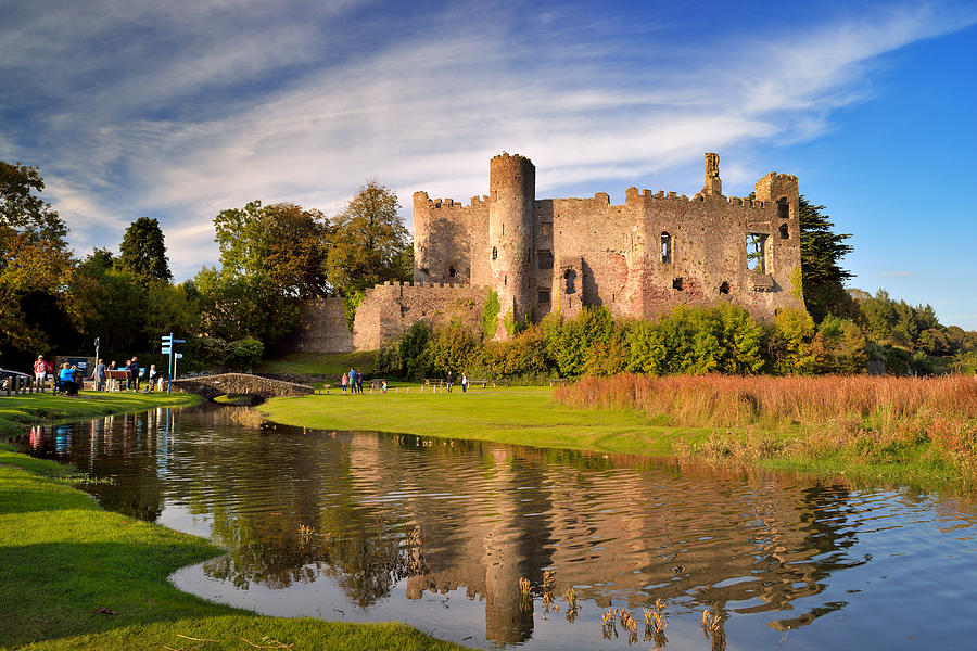 Laugharne Photograph - Laugharne Castle 1 by Phil Fitzsimmons