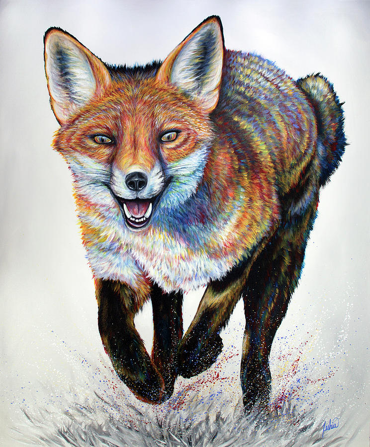 Laughing Fox by Teshia Art