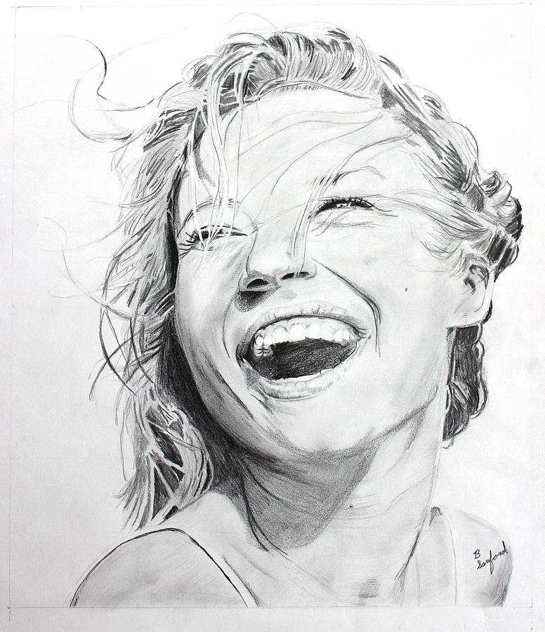 Laughing Girl Drawing by Brian Sanford