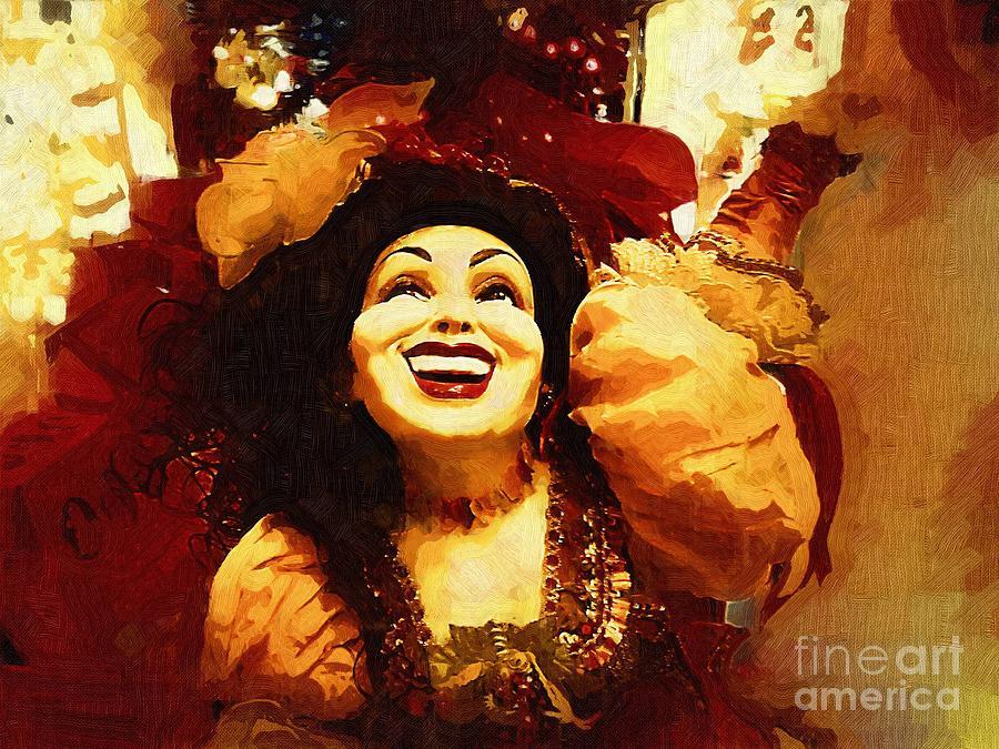 Gypsy Painting - Laughing Gypsy by Deborah MacQuarrie-Selib