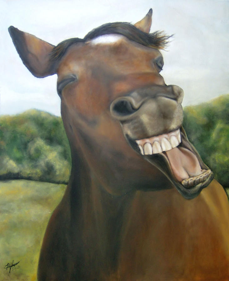 laughing horse michelle iglesias laughing horse painting by michelle iglesias