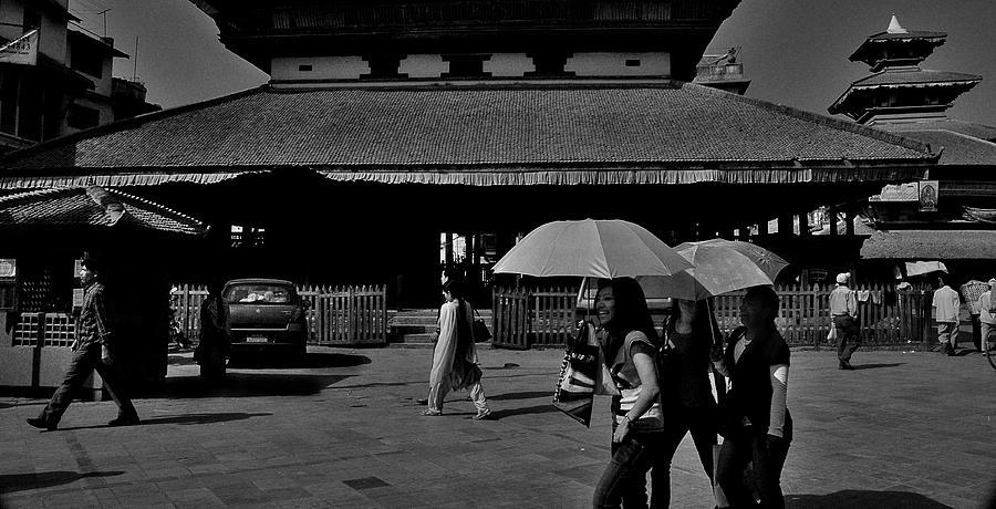 Nepal Photograph - Laughing Ladies by Anandaroop Ghosh