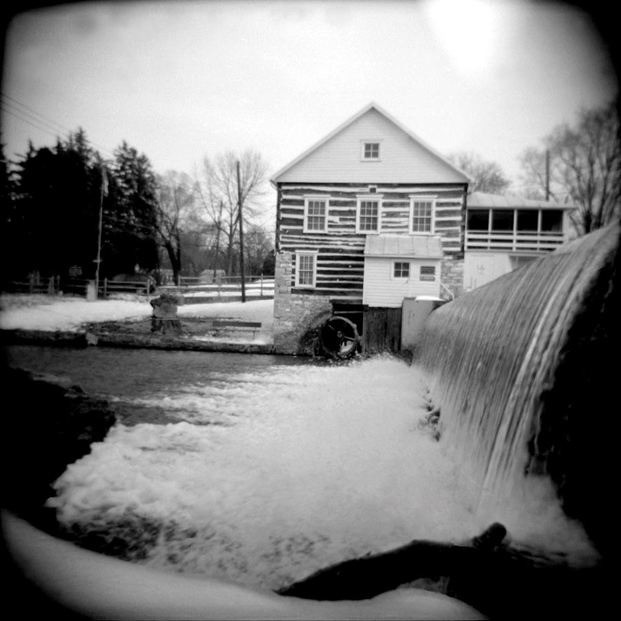 Black & White Photograph - Laughlin Mill by Jean Macaluso