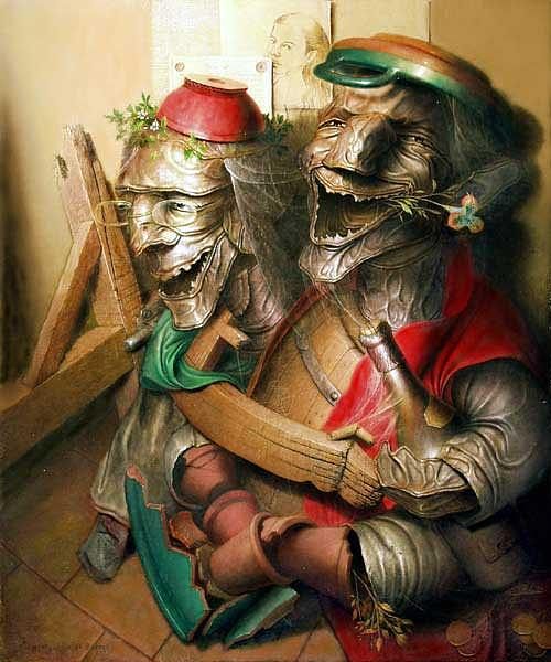 Oil On Canvas Painting - Laughter by Andre Martins de Barros