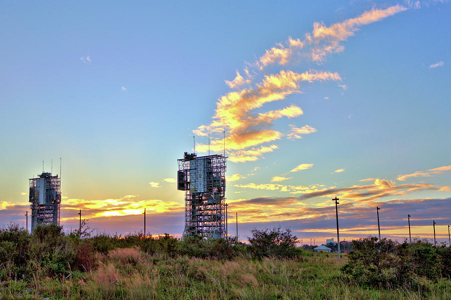 Launch Complex 17 at Sunset by Gordon Elwell