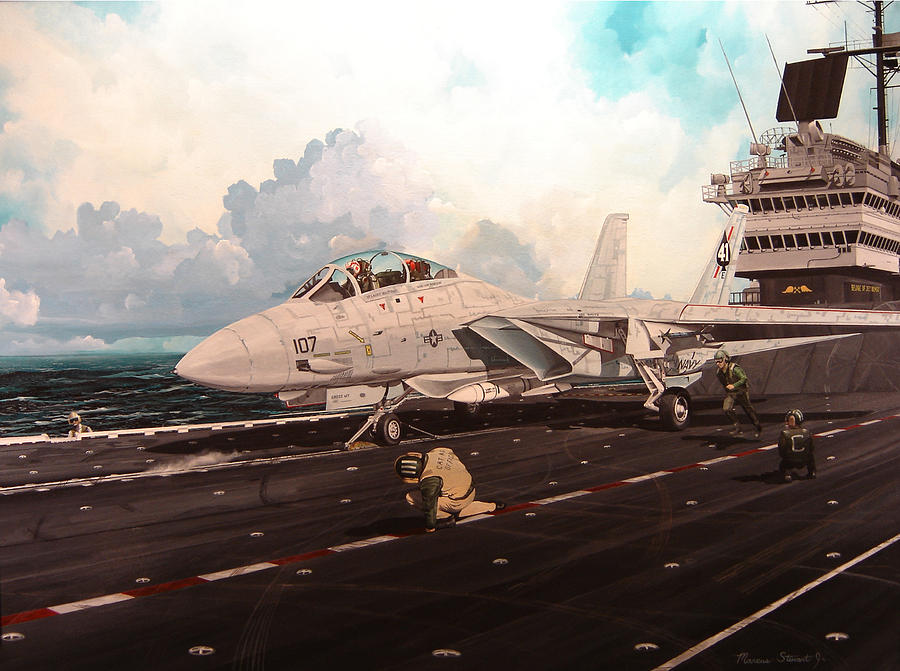 Military Painting - Launch The Alert 5 by Marc Stewart