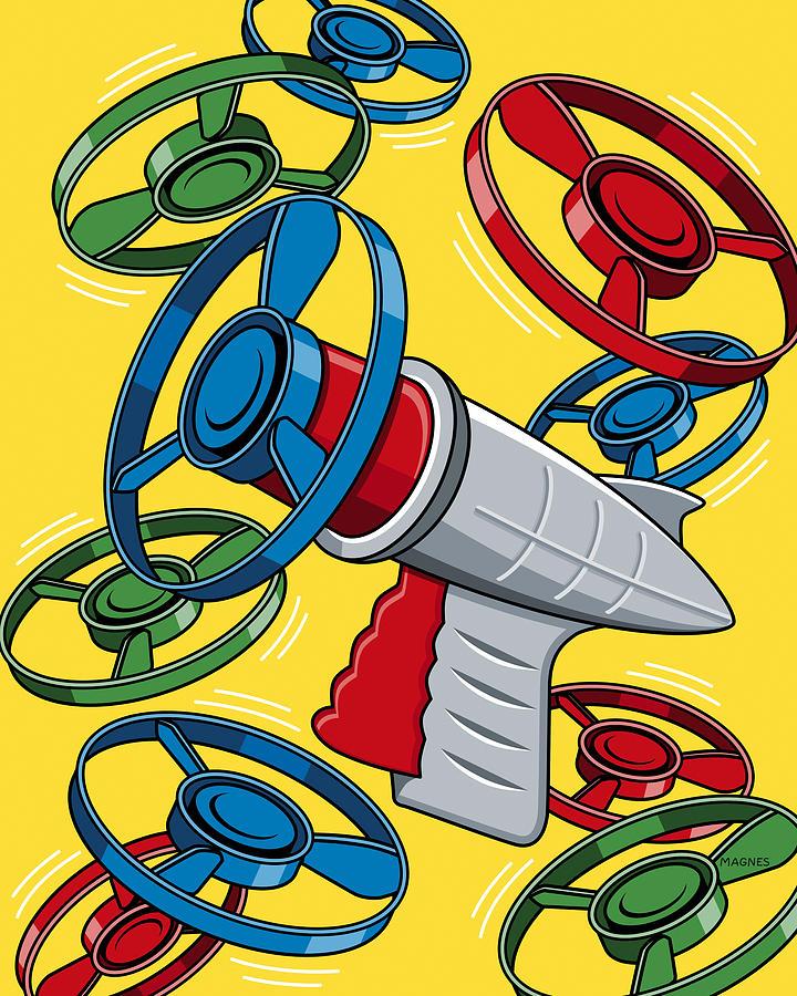 Launcher Gun Digital Art - Launcher Gun by Ron Magnes