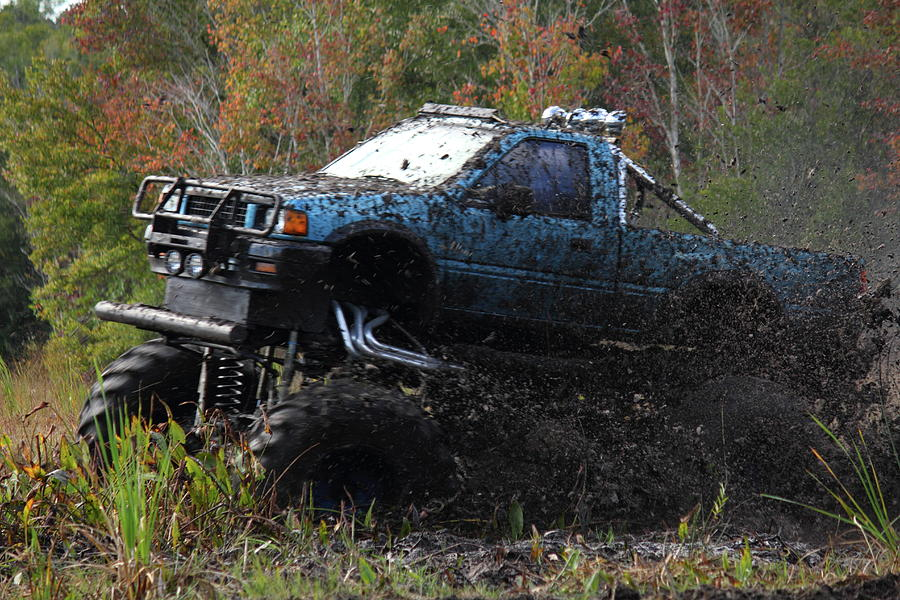 Mud Truck Photograph - Launching by Jamie Smith