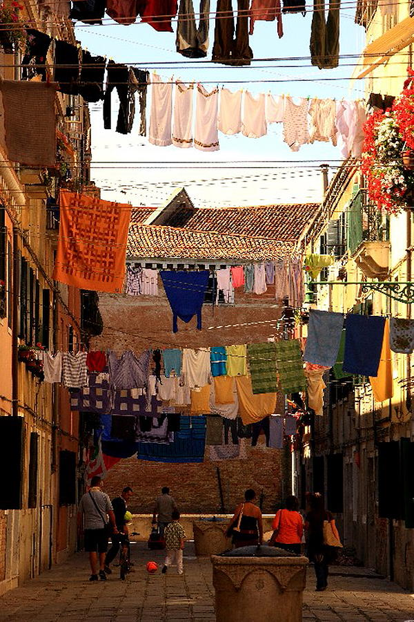 Venice Photograph - Laundry Day in Venice by Michael Henderson